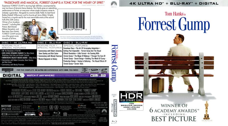 Forrest Gump 1994 R1 4k Uhd Cover Dvdcover Com