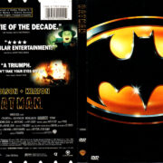 BATMAN (1989) R1 DVD COVER & LABEL