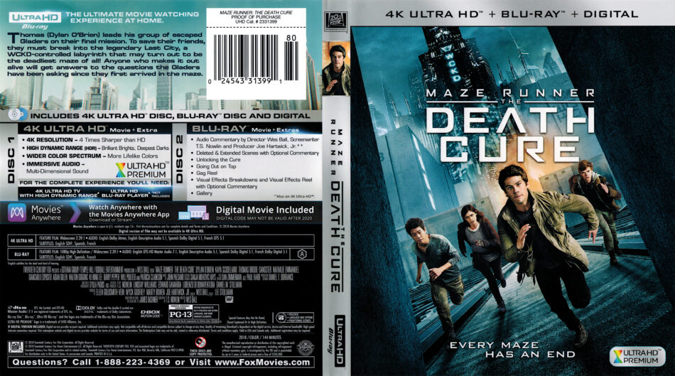 Maze Runner The Death Cure 2018 R1 4k Uhd Cover Dvdcover Com