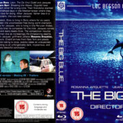 THE BIG BLUE DIRECTOR'S CUT (1988) R2 BLU-RAY COVER & LABEL