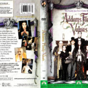 ADDAM'S FAMILY VALUES (1993) R1 DVD COVER & LABEL