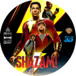 SHAZAM 3D (2019) BLU-RAY CUSTOM LABEL