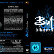 BUFFY IM BANN DER DAMONEN SEASON 1 (1996) R2 German DVD Cover & Labels
