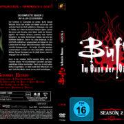 BUFFY IM BANN DER DAMONEN SEASON 2 (1997) R2 German DVD Cover & Labels
