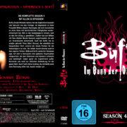BUFFY IM BANN DER DAMONEN SEASON 4 (1999) R2 German DVD Cover & Labels