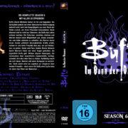 BUFFY IM BANN DER DAMONEN SEASON 6 (2001) R2 GERMAN DVD COVER & LABELS