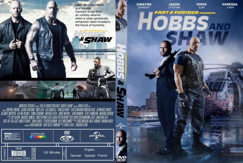 Fast And Furious Presents Hobbs And Shaw 2019 R1 Custom Dvd Cover Label Dvdcover Com