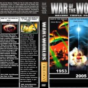 War of the Worlds Triple Feature (1953-2008) Custom DVD Cover & Label