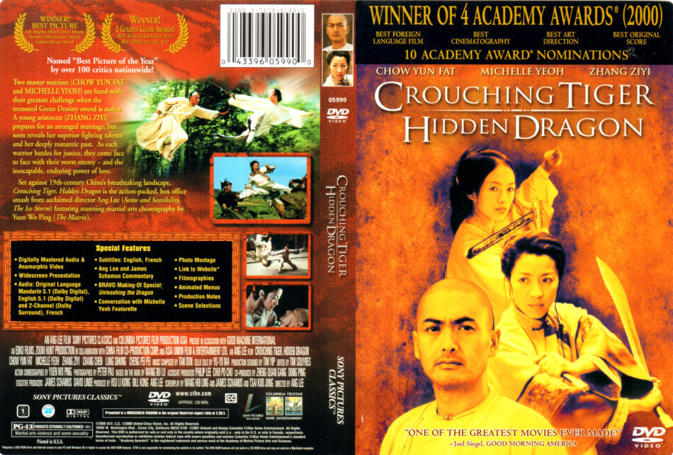 Crouching Tiger Hidden Dragon 2000 R1 Dvd Cover Label Dvdcover Com