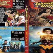 Wonder Woman (2009 & 2017) R0 Custom DVD Cover & Label