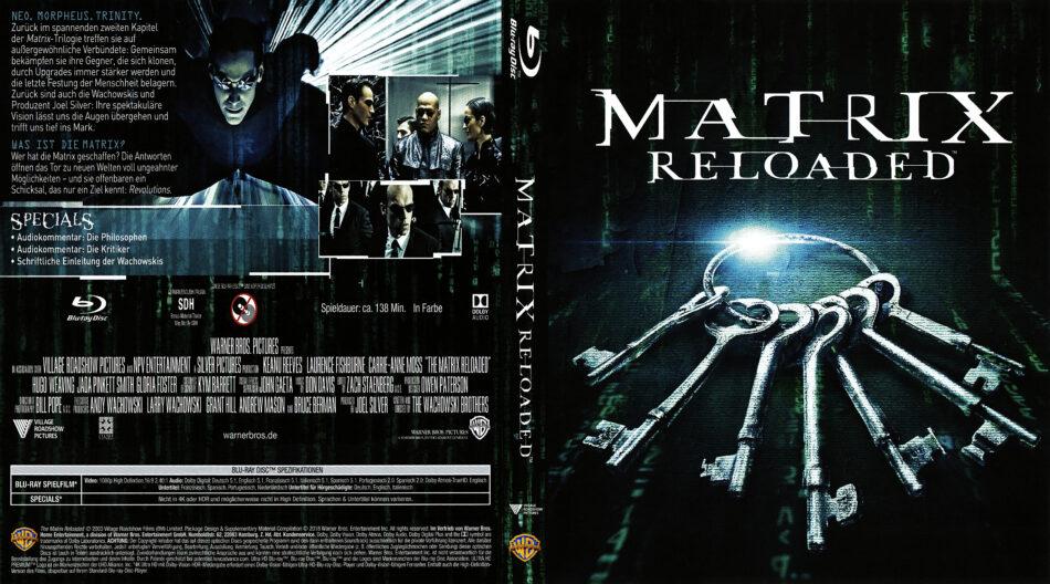 Matrix Reloaded 2003 Custom Remastered Uhd Edition R2 German Cover Label Dvdcover Com