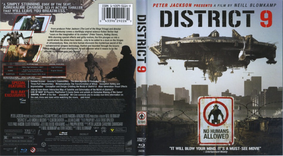 District 9 2009 R1 Blu Ray Cover Labels Dvdcover Com