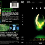 ALIEN 20TH ANNIVERSARY EDITION (1999) R1 DVD COVER & LABEL