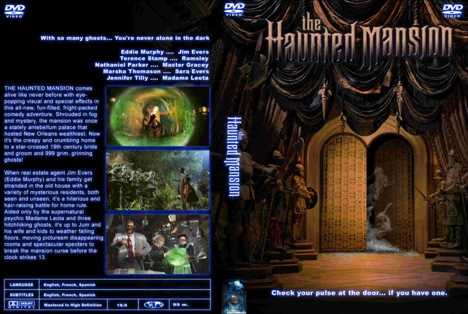 The Haunted Mansion 2003 R1 Custom Dvd Cover Label Dvdcover Com