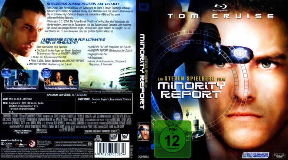 Minority Report 2002 R2 German Blu Ray Cover Dvdcover Com
