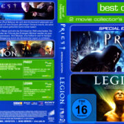 Priest (2011) & Legion (2010) Double Feature R2 German Blu-Ray Cover