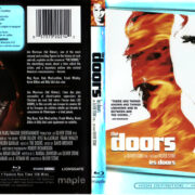 THE DOORS (1991) R1 BLU-RAY COVER & LABEL