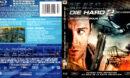 DIE HARD 2 DIE HARDER (1990) R1 BLU-RAY COVER & LABEL