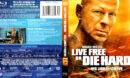 LIVE FREE DIE HARD (2007) R1 BLU-RAY COVER & LABEL