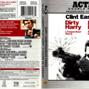 DIRTY HARRY - MAGNUM FORCE DOUBLE FEATURE R1 BLU-RAY COVER & LABELS