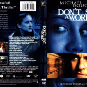 DON'T SAY A WORD (2001) R1 DVD COVER & LABEL
