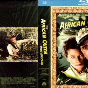 THE AFRICAN QUEEN (1951) COMMEMORATIVE BOXSET R1 BLU-RAY COVER & LABELS