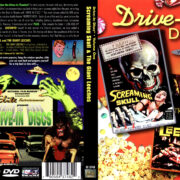 DRIVE-IN DISCS SCREAMING SKULLS & THE GIANT LEECHES (2000) R1 DVD COVER & LABEL