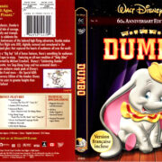 DUMBO 60TH ANNIVERSARY (1941) R1 DVD COVER & LABEL