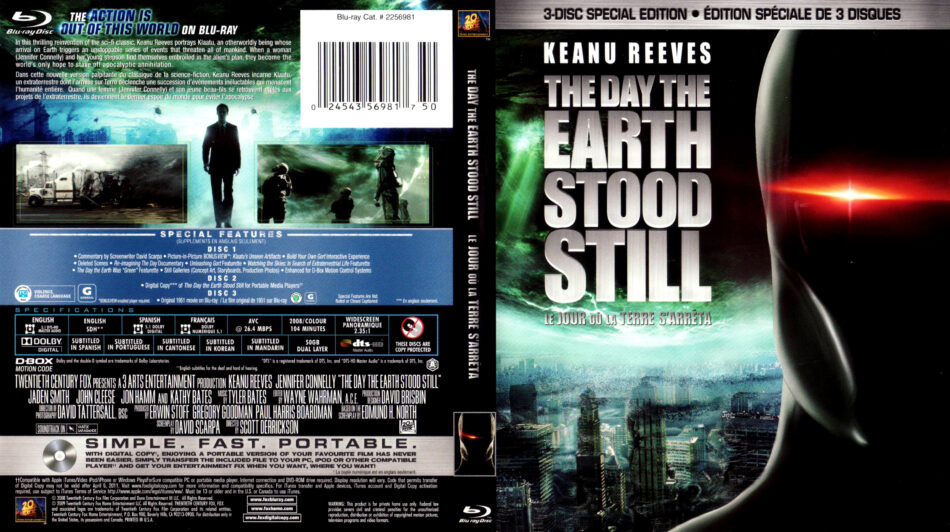 The Day The Earth Stood Still 2008 R1 Blu Ray Cover Label Dvdcover Com