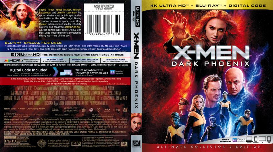 X Men Dark Phoenix 2019 R1 4k Uhd Cover Dvdcover Com