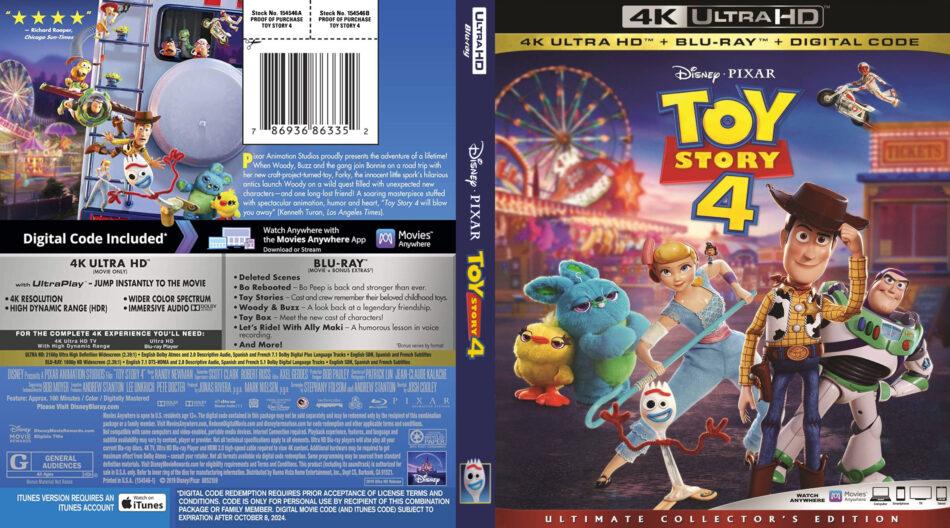 Toy Story 4 Dvd 2019 Dvdcovercom