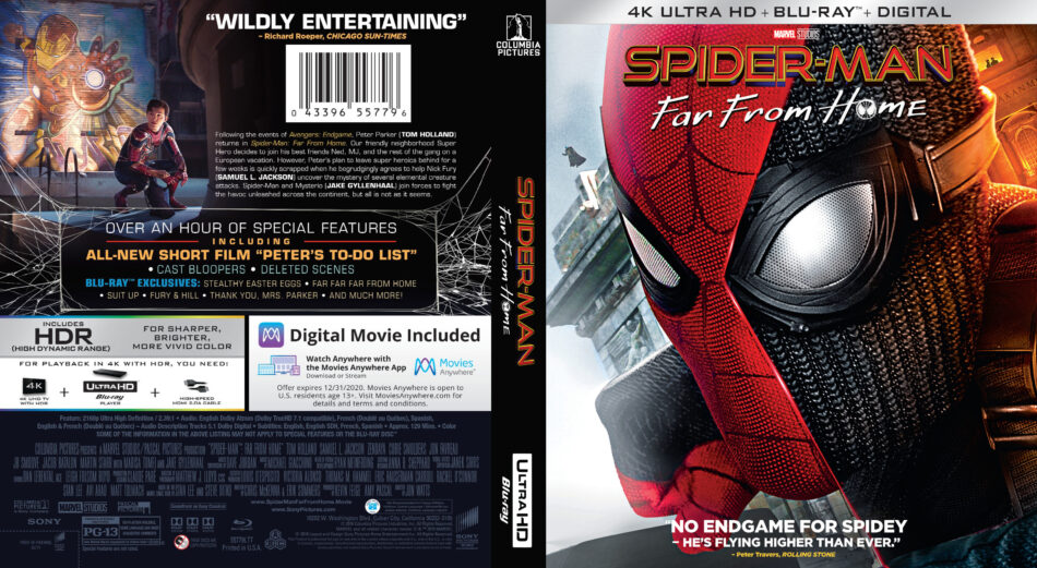 Spider Man Far From Home 2019 R1 4k Uhd Cover Dvdcover Com