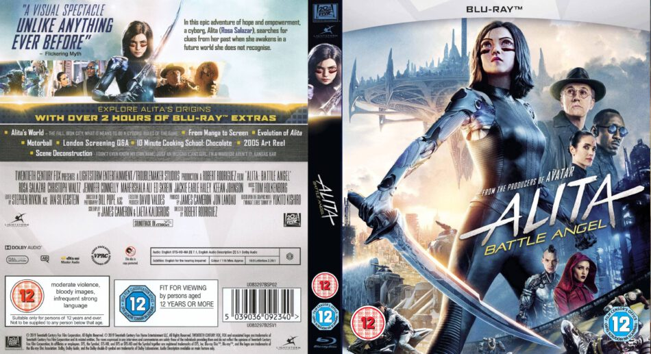 Alita Battle Angel 2019 R2 Custom Blu Ray Cover Label Dvdcover Com