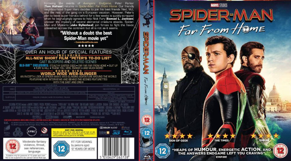 Spider Man Far From Home 2019 R2 Custom Blu Ray Cover Dvdcover Com