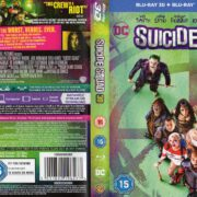 SUICIDE SQUAD 3D (2016) R2 Blu-Ray Cover & Labels