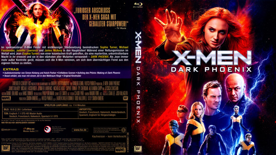 X Men Dark Phoenix 2019 R2 German Blu Ray Covers Dvdcover Com