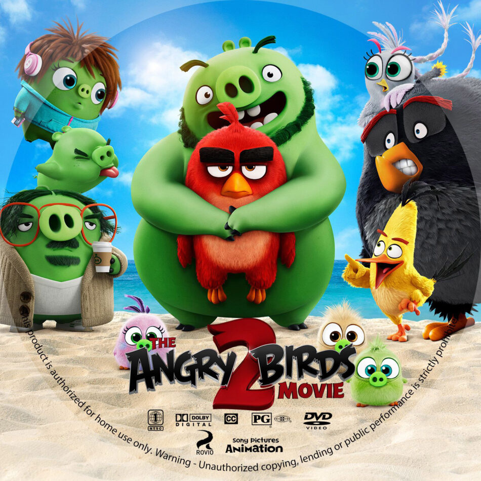 The Angry Birds Movie 2 2019 R1 Custom Dvd Label Dvdcover Com