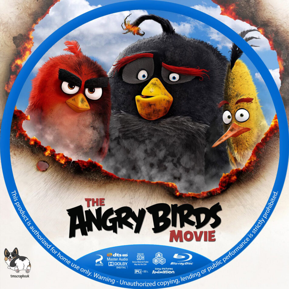 The Angry Birds Movie 2016 R1 Custom Blu Ray Labels Dvdcover Com