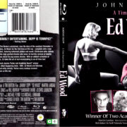 ED WOOD (1994) R1 BLU-RAY COVER & LABEL