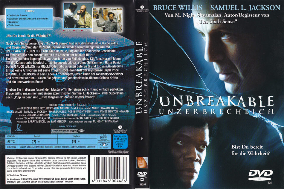 Unbreakable 2000 R2 German Dvd Cover Dvdcover Com
