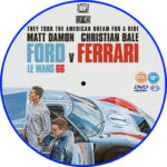 Ford V Ferrari (2019) R2 Custom DVD Label