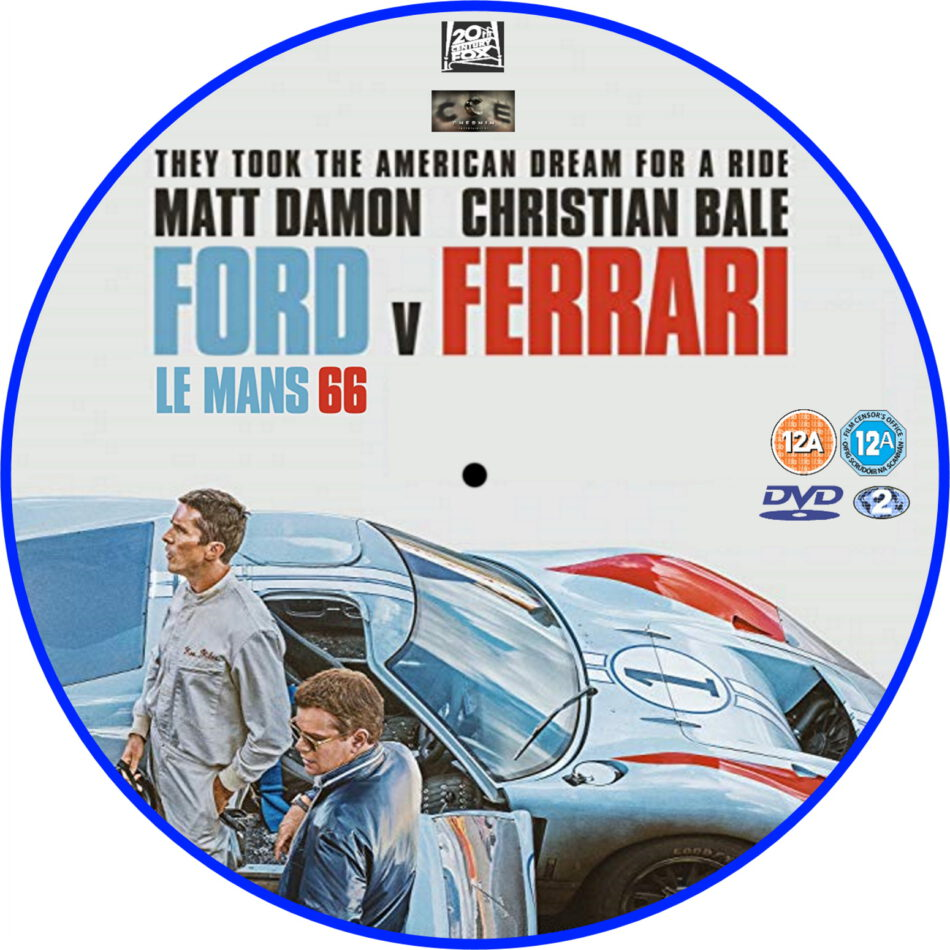 Ford V Ferrari (2019) R2 Custom DVD Label