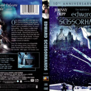 EDWARD SCISSORHANDS 10TH ANNIVERSARY (2000) R1 DVD COVER & LABEL