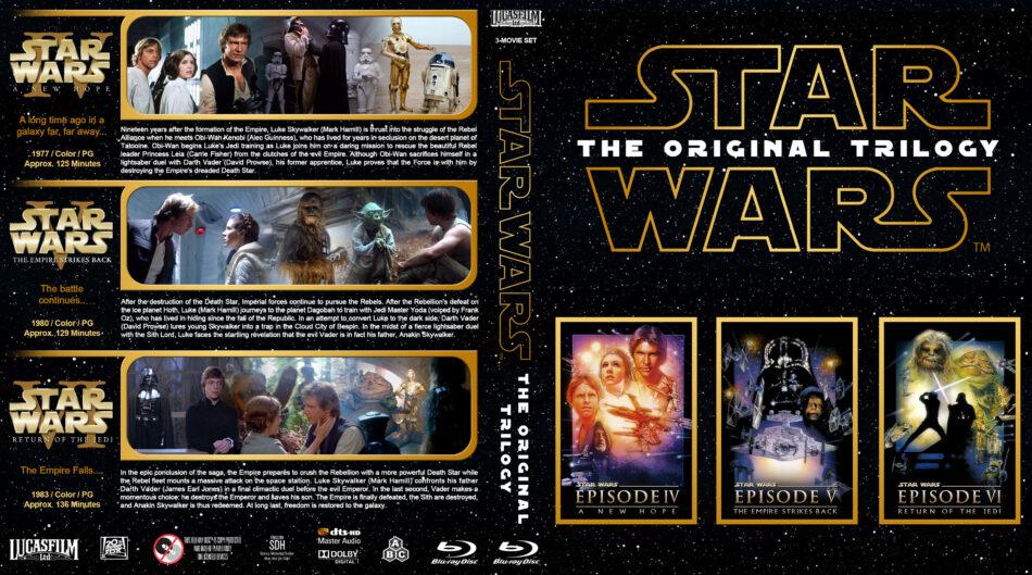 Star Wars The Original Trilogy R1 Custom Blu Ray Cover Dvdcover Com