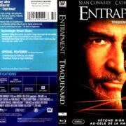 ENTRAPMENT (1999) R1 BLU-RAY COVER & LABEL