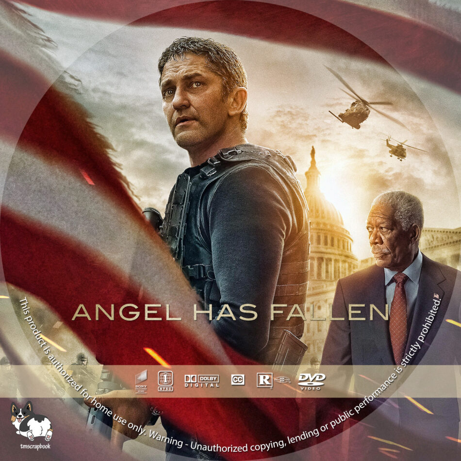 angel has fallen  2019  r1 custom dvd labels