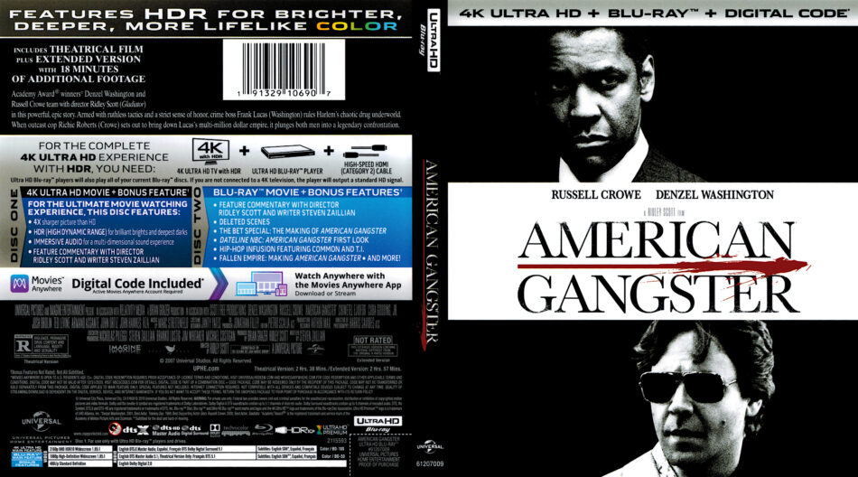 American Gangster 2007 R1 4k Uhd Cover Dvdcover Com