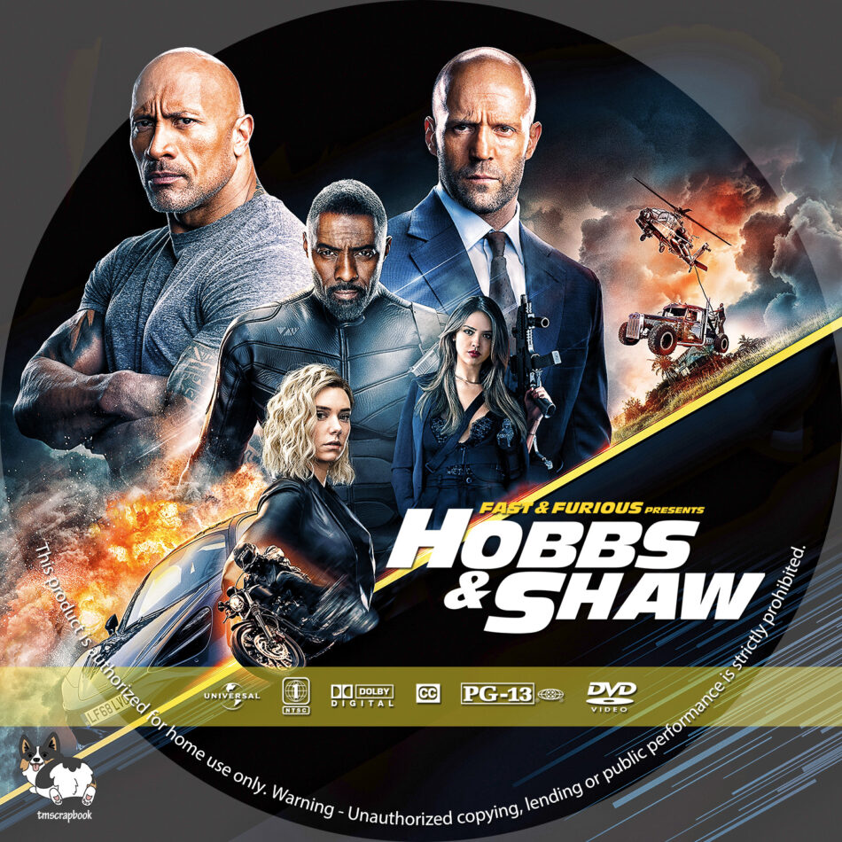 Fast Furious Presents Hobbs Shaw 2019 R1 Custom Dvd Labels Dvdcover Com