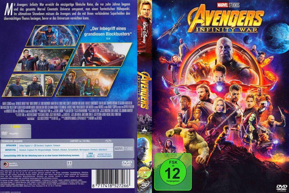 Avengers Infinity War 2018 R2 German Dvd Cover Dvdcover Com