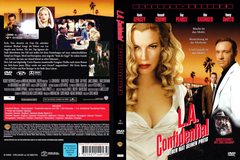 L A Confidential 1997 R2 German Dvd Cover Dvdcover Com